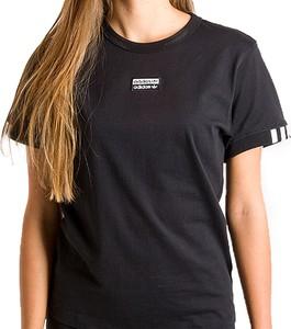 Czarna bluzka Adidas z bawełny