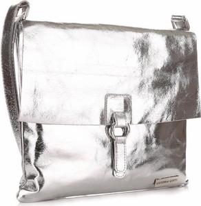 Srebrna torebka VITTORIA GOTTI duża w stylu glamour na ramię