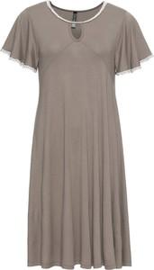 5974f36e06 Sukienka bonprix RAINBOW midi z krótkim rękawem