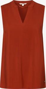 Czerwona bluzka Tom Tailor Denim bez rękawów
