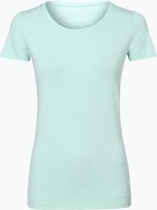 Miętowy t-shirt Marie Lund w młodzieżowym stylu z okrągłym dekoltem