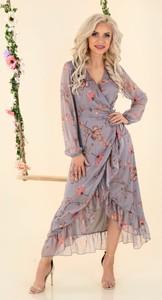 Sukienka MERRIBEL asymetryczna z dekoltem w kształcie litery v