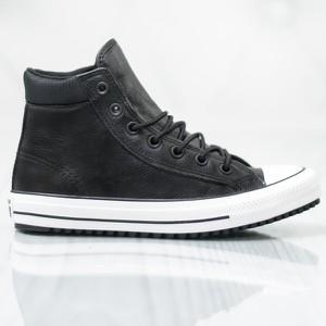 45fc167e46b72 Czarne trampki Converse z płaską podeszwą sznurowane wysokie