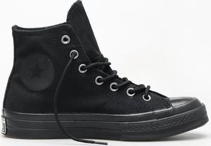 Czarne trampki Converse wysokie w stylu retro
