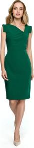 Sukienka Style z tkaniny asymetryczna
