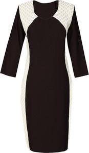 Sukienka Fokus ze skóry z długim rękawem