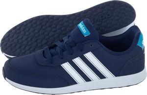 9384170150eae Niebieskie buty sportowe Adidas w sportowym stylu ze skóry ekologicznej  sznurowane