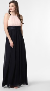 Granatowa sukienka Marie Lund rozkloszowana