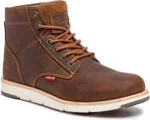Brązowe buty zimowe Levis sznurowane