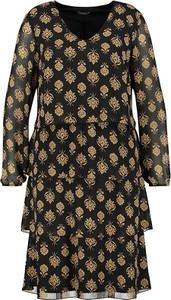 Sukienka Samoon z dekoltem w kształcie litery v mini z długim rękawem