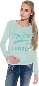 Miętowa bluza Pepe Jeans w młodzieżowym stylu