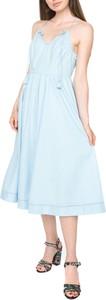 Sukienka Juicy Couture na ramiączkach oversize z bawełny