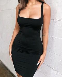 Czarna sukienka Kendallme mini hiszpanka dopasowana