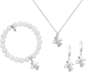 Perlove Srebrny Komplet Biżuterii Angel Komunia