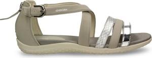 Brązowe sandały Geox w stylu casual z klamrami z płaską podeszwą