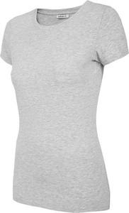 T-shirt Outhorn z okrągłym dekoltem z bawełny w stylu casual