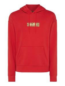 Czerwona bluza Review z nadrukiem z bawełny