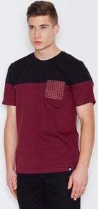 Czerwony t-shirt VISENT w stylu casual z krótkim rękawem