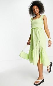 Zielona sukienka Influence midi gorsetowa