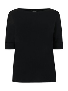 Czarna bluzka Ralph Lauren w stylu casual z krótkim rękawem