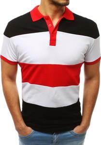 Koszulka polo Dstreet z bawełny w stylu casual z krótkim rękawem