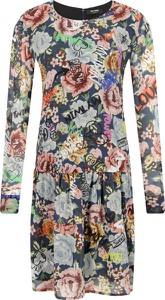 Sukienka Mytwin Twinset z okrągłym dekoltem mini