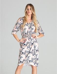 Sukienka Figl koszulowa w stylu casual midi