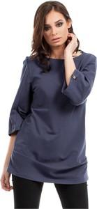 Niebieska tunika Be z dresówki z długim rękawem