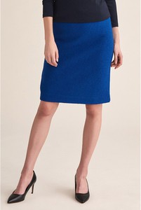 Niebieska spódnica Tatuum z wełny mini