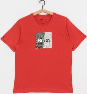 Czerwony t-shirt Brixton z bawełny