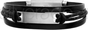 Silverado Czarna bransoleta z bawełnianym sznurkiem - 77-BA547B