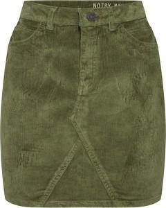 Zielona spódnica Noisy May ze sztruksu w stylu casual mini