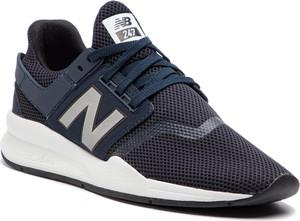 Buty sportowe New Balance ze skóry ekologicznej w sportowym stylu