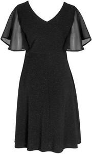 Sukienka Cream z dżerseju rozkloszowana mini