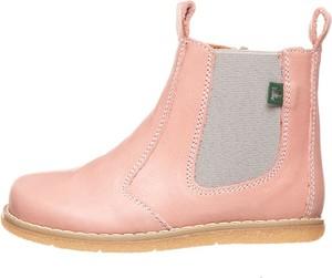Różowe buty dziecięce zimowe El Naturalista ze skóry