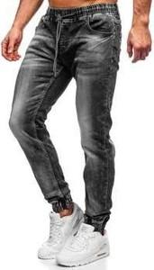 Czarne jeansy Denley z bawełny