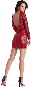 Czerwona sukienka Moda Dla Ciebie dopasowana
