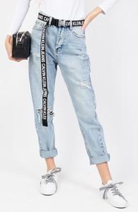 Niebieskie jeansy Olika w stylu casual z jeansu