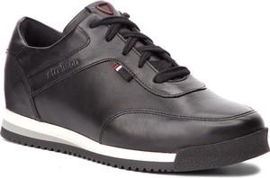 Czarne buty sportowe Strellson w sportowym stylu sznurowane