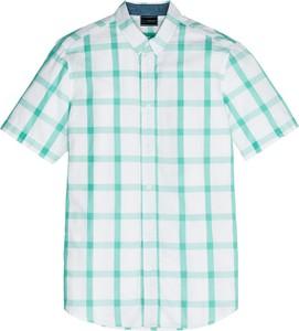 Miętowa koszula bonprix bpc selection z krótkim rękawem