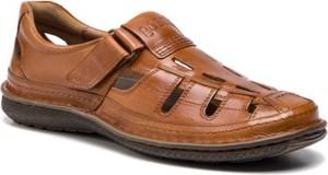 Brązowe buty letnie męskie Go Soft