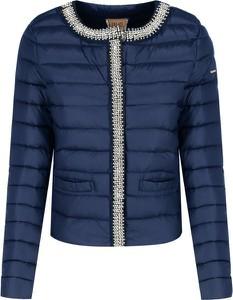 Niebieska kurtka Liu-Jo krótka w stylu casual