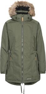 Zielony płaszcz Trespass w stylu casual z polaru