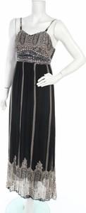 Czarna sukienka Best Emilie maxi z okrągłym dekoltem