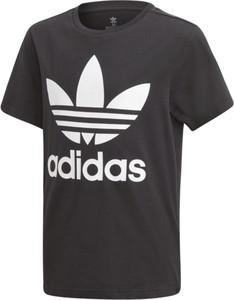 Czarna koszulka dziecięca Adidas z dzianiny
