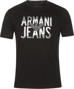 T-shirt Armani Jeans z bawełny z krótkim rękawem