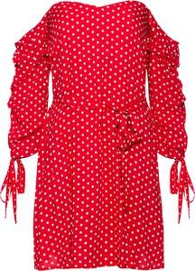 Czerwona sukienka bonprix BODYFLIRT boutique mini