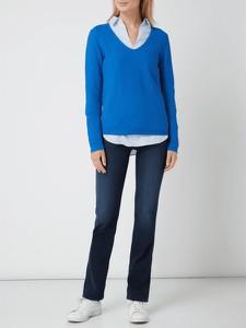 Niebieski sweter Christian Berg Women z bawełny