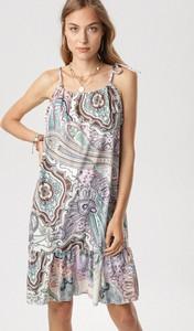 Sukienka born2be z okrągłym dekoltem