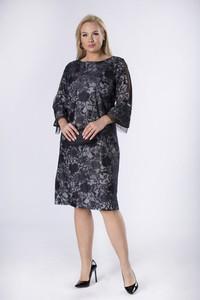 Sukienka Moda Dla Ciebie z okrągłym dekoltem dopasowana